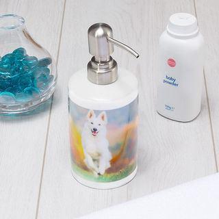 Custom Soap dispenser dog photo