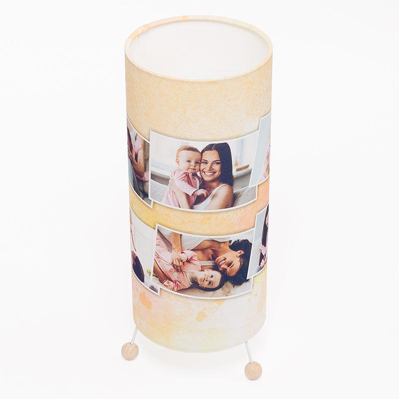 fotolampe selbst gestalten lampe mit fotos text bedrucken. Black Bedroom Furniture Sets. Home Design Ideas