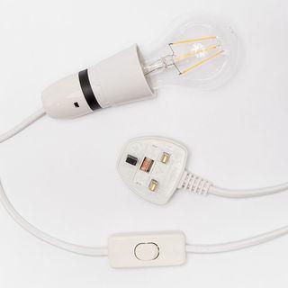UK lightbulb and plug socket