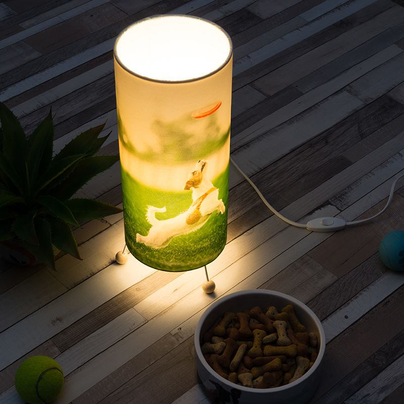 fotolampe selbst gestalten lampe mit fotos text. Black Bedroom Furniture Sets. Home Design Ideas