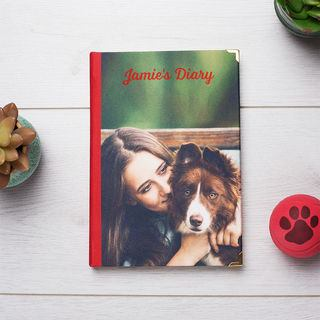 Personalised 2018 Diary with dog picture