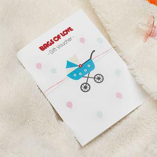 Baby gift voucher design design