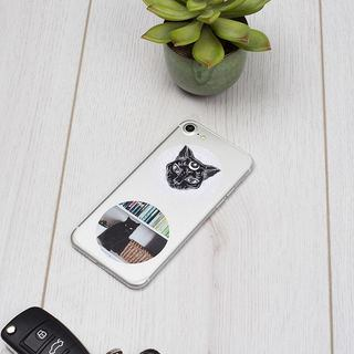 Phone personalised with Cat stickers photo