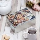 Biscuit tin personalised with your photo and text