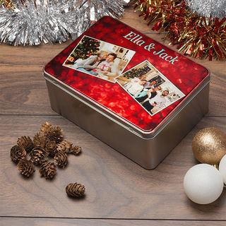 Christmas Tin decoration storage