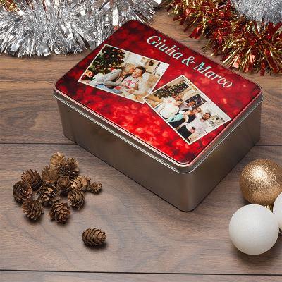 scatola di latta natalizia