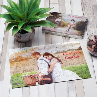 Photo jigsaw wedding photo print