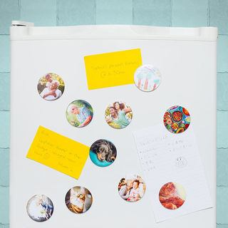 Magnet photo sur frigo