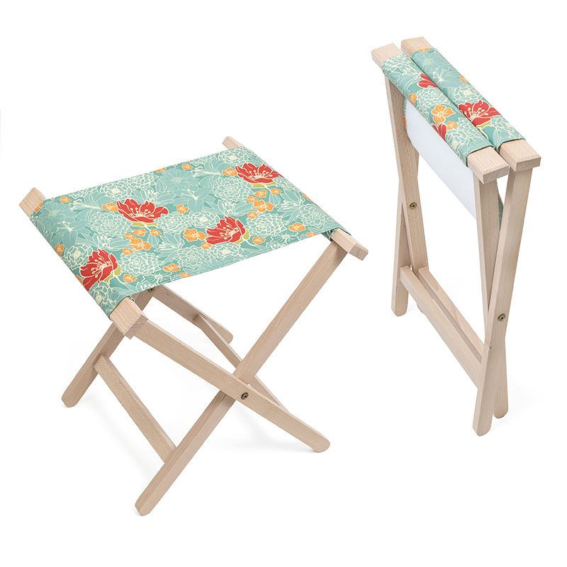 Folding canvas chair personalised folding stools uk for Stool chair
