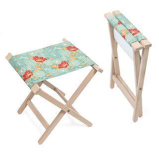 folding stool chair branded pattern
