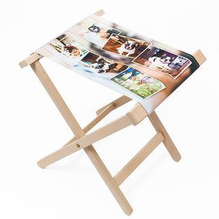 Wooden chair personalised with photo montage