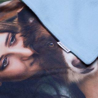 coperta per cani dettaglio etichetta