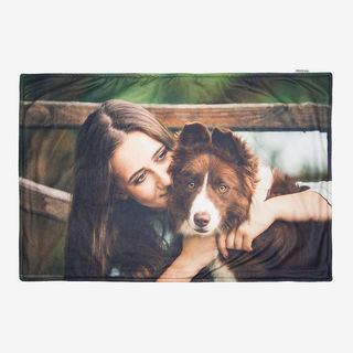 pet blanket with photo
