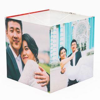 wedding photos on lampshade