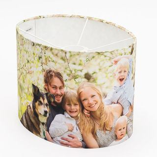 printed oval lamp shades with dog photo