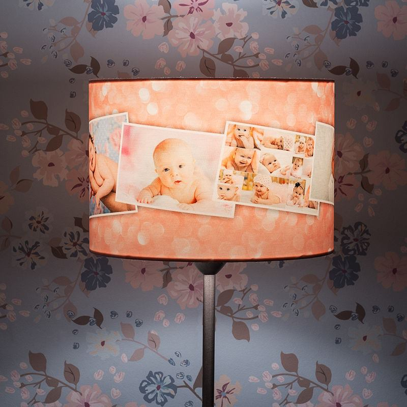 Printed lamp shades design your own lamp shades uk photo collage lamp shades uk mozeypictures Image collections