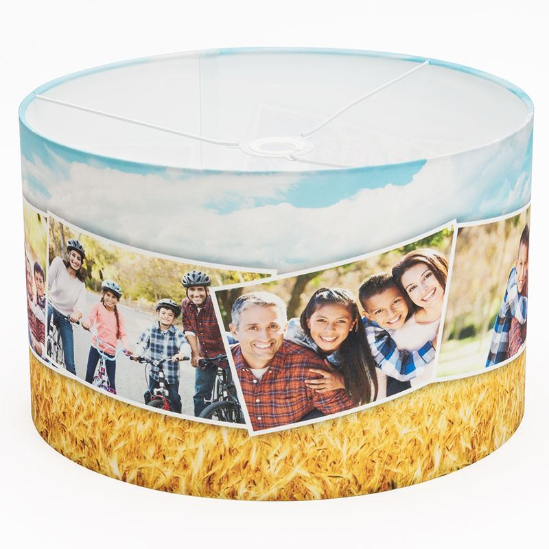 Printed lamp shades design your own lamp shades uk montage custom lamp shades aloadofball Image collections