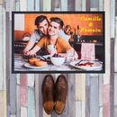 Tapis d'entrée personnalisé photo de couple