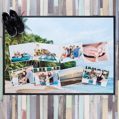 foto collage op deurmat