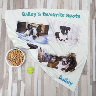 french bulldog design dog blanket personalised