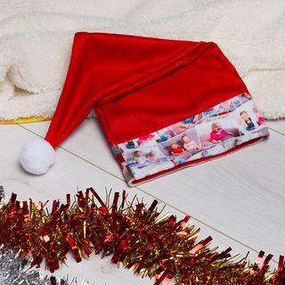 Bonnet de Noël personnalisé avec montage photos