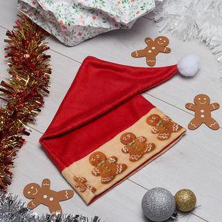 Bonhommes de pain d'épice imprimé sur bonnet de Noël