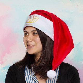 Bonnet de Noël avec logo jaune