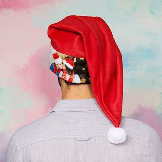 Photo de couple imprimée sur bonnet de Noël