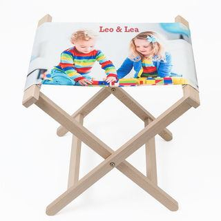 personalised text stool photo gift