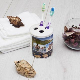 porta spazzolino in ceramica personalizzato