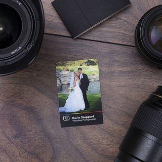 Photographer business card design print UK