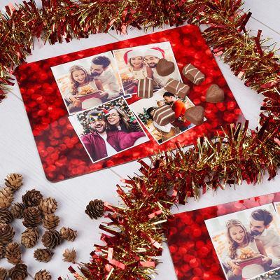 juldekoration bordstablett med egna foton
