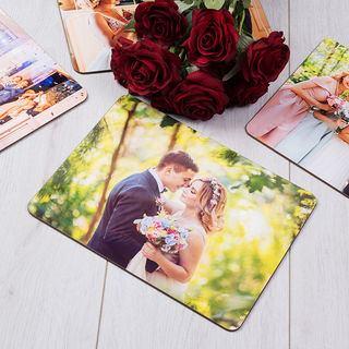 Set de table avec photo de couple