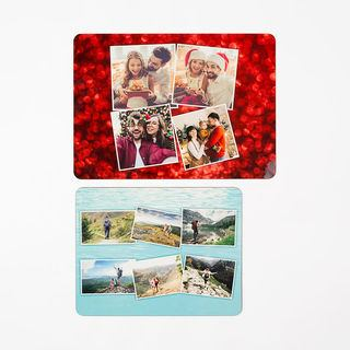 Large and small photo placemats