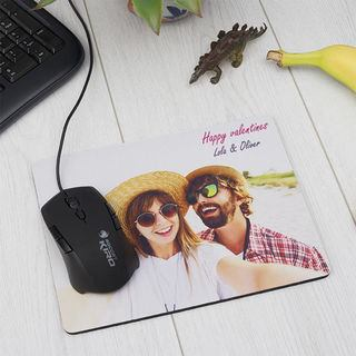 Personalised Mouse mats couple with text