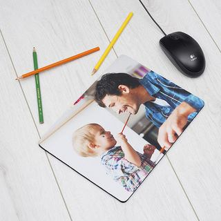 Father's Day custom mouse pad with child