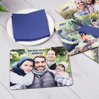 Set de table personnlisé avec photo de famille
