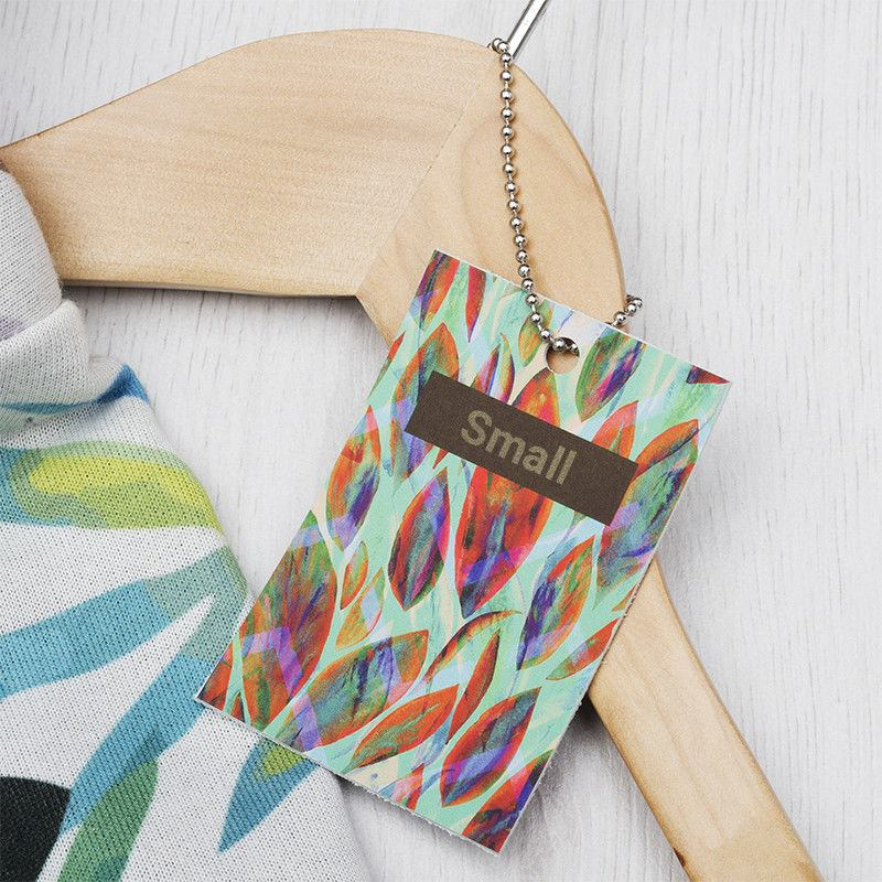 detail printed leather tag charm