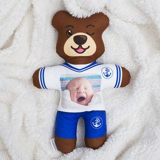 Baby photo personalised teddy bear