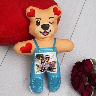 Dungarees photo customised teddy bear