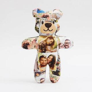 Photo montage design for teddy bear design