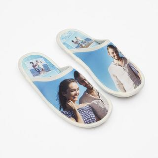 Chaussons avec photo de couple