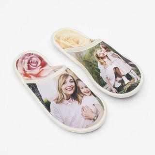 Chaussons avec photo de maman