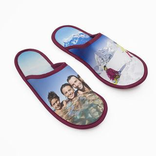 Family photo printed slippers for men