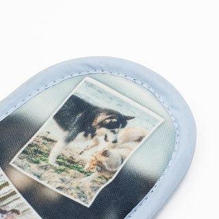 hausschuhe mit fotodruck detail
