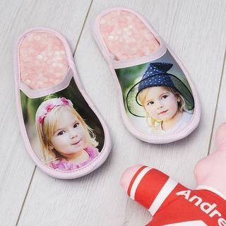 chaussons taille enfant avec photo fille