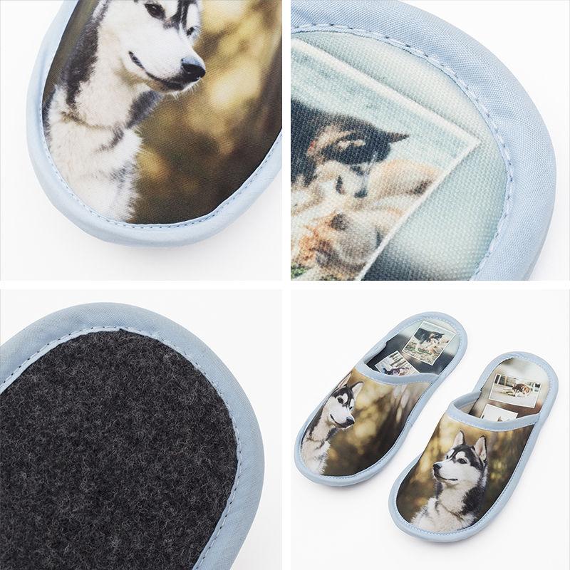 Zapatillas de casa personalizadas pantuflas personalizadas con fotos - Zapatillas andar por casa originales ...