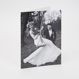 A4 personalised card printing for wedding celebration