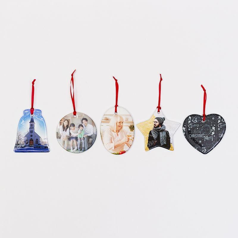 Ceramic Christmas Ornaments   Custom Photo Christmas Ornaments