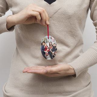 Family hanging photo ornament Christmas